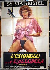 manifesto 4F film LE ROSSIGNOL ET L'ALOUETTE Sylvia Kristel 1977