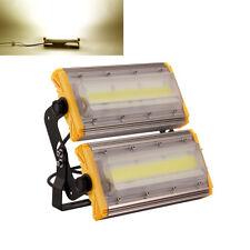 100W LED Fluter Flutlicht Außen Leuchte Scheinwerfer Warmweiß COB Gartenstrahler