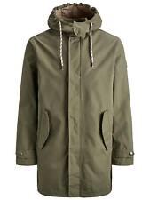 Jack & Jones Originals Parka Jacket Mens Lightweight Rain Parker Coat JORFairly