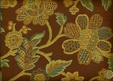 Crypton® Arccom Juliet Bark Bold Traditional Floral Brown Upholstery Fabric