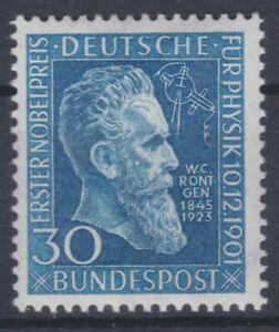 1951 Nobelpreis Wilhelm Röntgen 147 Postfrisch ** MNH