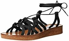 d9bc3b374900 Women s Steve Madden Seaashor Caged Lace up Leather Gladiator Wedge Sandal  Sz 10