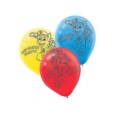 6 Paw Patrol Puppy Pets Birthday Party Blue Yellow Red Printed Latex Balloons