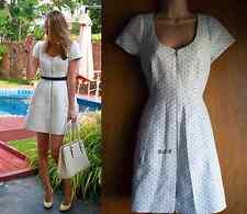 NewWT Karen Millen white black dot cotton shirt zip celebrity dress UK 12 £190