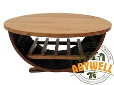 Handcrafted Solid Whisky Barrel Furniture_Coffee Table|Wine Rack_Oak Table Top