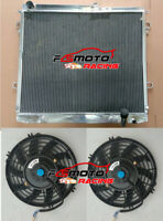 Aluminum Radiator+Fans For Toyota Landcruiser VDJ200 200 Series 4.5TD V8 07-ON