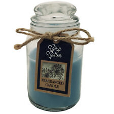 Scented Candle Jar Glass Container Assorted Fragrances 11cm Mini Small Gift Fresh Linen