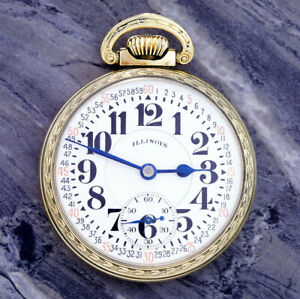 Illinois Model 161A Railroad Pocket Watch CA1932 16 Size, 21 Jewel