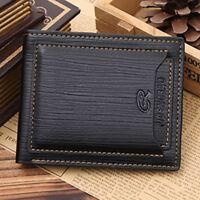Modish Clutch Bifold Slim Purse Pocket Card Holder Leather Men Business Wallet
