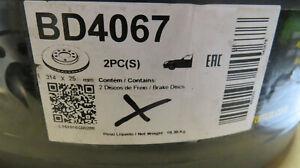 2X Front Brake Discs Fits AUDI A6 C6 Avant (4F5) C6 Saloon (4F2) 314MM