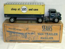 MARX--LUMAR--SEARS ROEBUCK TRACTOR TRAILER-MINT IN BOX--1950'S