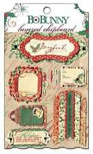 NEW BO BUNNY REJOICE LAYERED CHIPBOARD EMBELLISHMENT