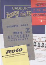 SET OF 10 WW2 BRITISH CONFECTIONARY WRAPPERS (REPRO)