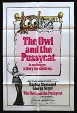 OWL & THE PUSSYCAT * 1SH ORIGINAL CineMasterpieces MOVIE POSTER BARBRA STREISAND