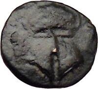 MESEMBRIA Thrace 400BC Rare Ancient Greek Coin Corinthian helmet  i29650
