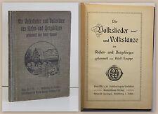 Knappe Die Volkslieder und Volkstänze des Riesen- und Isergebirges 1912 xz
