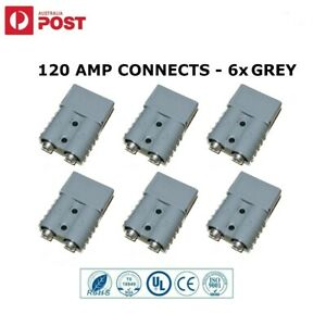 6x 120AMP Connectors Anderson Style Plug DC Power Solar Caravan 6AWG GREY