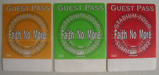 FAITH NO MORE 3 GUEST BACKSTAGE PASSES 1992 ANGEL DUST