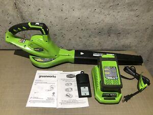 GreenWorks 24252 G-Max 40-Volt-2.0Ah Lithium-Ion Cordless Leaf Blower