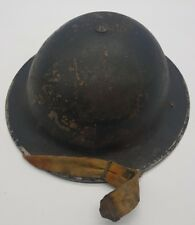 WW2 British Home Front Civil Defence MK 2 Brodie Tommy Helmet Complete Example
