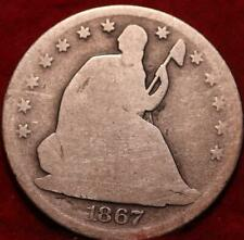 1867-S San Francisco Mint Silver Seated Half Dollar