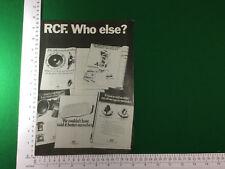 Característica R.C.F. covemain 1980-la historia de los altavoces de altavoces rcf