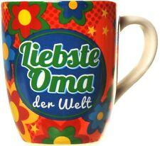 Becher Liebste Oma der Welt Porzelan Kaffeebecher Kaffeetasse groß