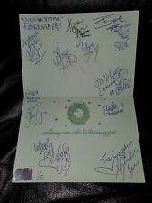 Holiday Card #1, autographed by 13 KNOCKOUTS w/ IMPACT Wrestling Hologram 1/5