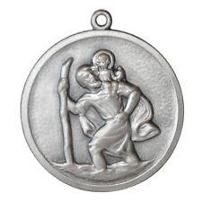 Heiliger Sankt St. Christophorus Relief Plakette Metall Anhänger HR Art. 201