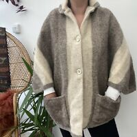 Rusk & Finch 100% Pure New Wool Cape Brown/Beige One Size