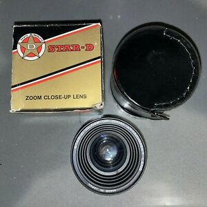 Star-D Zoom-Close-Up Lens Series VII with 49mm Adapter and Case Boxed NOS
