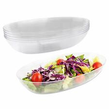 Plastic Salad Bowl | 42 Oz -Pack of 5 - Heavyweight Disposable Clear Salad Bow