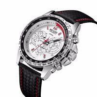 MEGIR Mens Stainless Steel Analog Waterproof Sports Quartz Military Wrist Watch