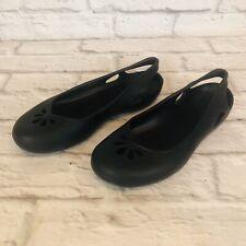 Crocs Kadee Womens Size 7 Black Ballet Flats Slip On Casual Shoes 2L5