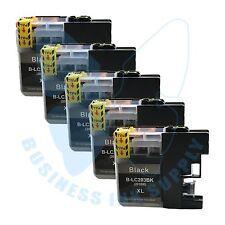 5 BK LC203XL LC201 compatible Ink Cartridges for Brother printers with NEW CHIP