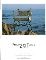 Publicité contemporaine fauteuil métal Philippe De Tonge 1995 issue de magazine