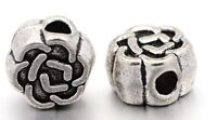 Flower Spacer Bead 4mm Bali Antique Silver Plated Jewelry Making Supplies Bulk