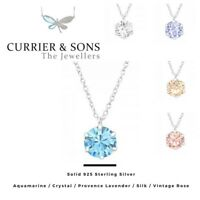 LA CRYSTALE 925 Sterling Silver Round Pendant Necklace with SWAROVSKI® Elements