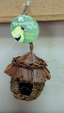 Prevue Hendrix Pet Products Bpv1171 Wood Roof Small Bird Nest New