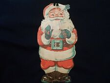 1948 Sears & Roebuck Happi-Time Toy Town Paper Winking Santa Claus #2