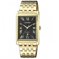 Citizen BH3002-54E Black Dial Gold Men's  Quartz Analog Dress Watch