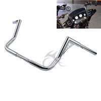 """12"""" Rise Ape Hanger 1-1/4"""" Handlebar For Harley Touring FLHT Dressers Chrome"""