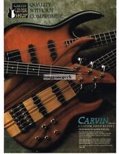 1997 CARVIN Custom Shop Bass Guitar Vtg Print Ad