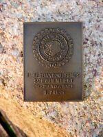 wunderschöne alte Bronze Medaille Plakette Schwimmfest 1925 Schwimmenclub Lipsia