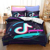 3D Tik Tok Duvet Doona Cover Bedding Comforter Cover PillowCase Double 3#