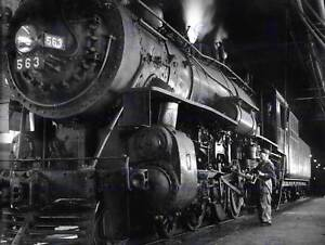 PHOTO 1955 STEAM TRAIN WINSTON LINK ENGINE NEW ART PRINT POSTER PICTURE CC3796