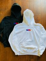 RACING STRIPES BLONDE HOODIE - Mens Black EMBROIDERED- FRANK OCEAN BLOND