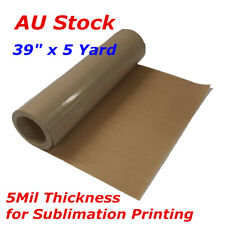 """AU 39"""" X 5 Yard PTFE Fabric Sheet Roll 5mil Thickness for Sublimation Printing"""