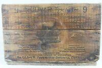 Antique OLIVER  No 9 Bat Wing Typewriter Original Wooden Shipping Crate