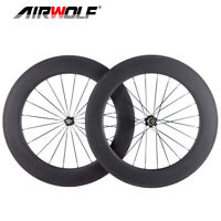 700C 80*25mm Carbon Laufradsatz Vollcarbon Räder Rennrad Fahrrad Laufradsatz